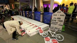Cyclists protest outside TfL