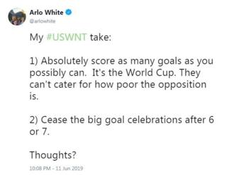 Arlo-White-says-you-should-stop-celebrating-after-6-or-7-goals.