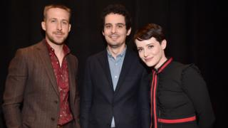 Ryan Gosling, Damien Chazelle and Claire Foy
