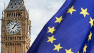 Big Ben and an EU flag