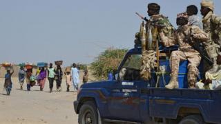 Pipo from Malam Fatori, Nigeria near Niger and Chad border dey run from Boko Haram attacks on May 25 2015