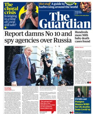 Guardian front page 22 July 2020