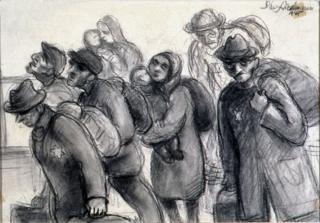 No caminho para um campo de concentração