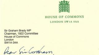 One of the letters sent to the chair of the 1922 Committee