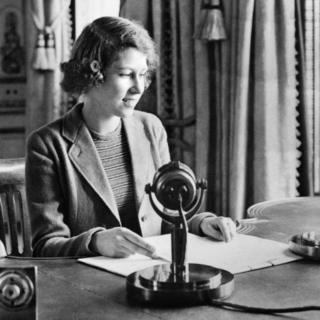 Princess Elizabeth makes her first radio broadcast