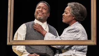 Wendell Pierce and Sharon D Clarke in Death of a Salesman