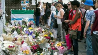 Mourners pay tribute to victims of the Grenfell Tower tragedy