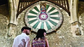 The Round Table in Winchester Castle