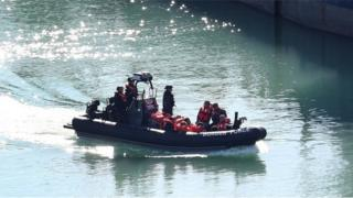 Migrants brought into Dover