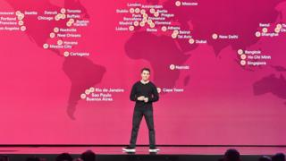 Brian Chesky's AirBnB has over three million locations listed so far