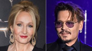 JK Rowling and Johnny Depp