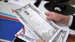 Белизден келди делген документтерди өткөн жыл соңунда УКМК президентке көрсөткөн