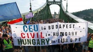 CEU protest
