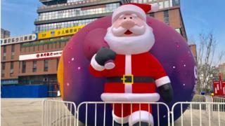 Фігура Санта-Клауса в Китаї