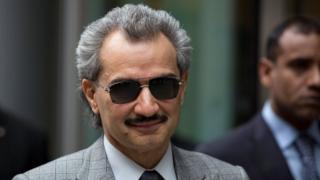 Saudi Arabian Prince Alwaleed bin Talal in London in July 2, 2013.