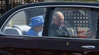 The Queen in the car 21 June 2017