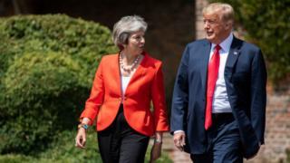 ABŞ prezidenti Donald Trump və Britaniyanın Baş naziri Theresa May