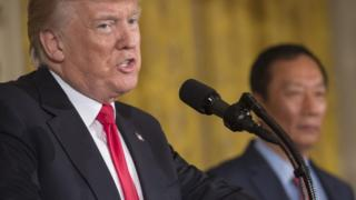 President Donald Trump and Foxconn chief Terry Gou