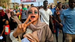 Women were at the forefront of protests against Bashir