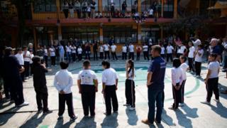 Un colegio en Ciudad de México en 2018.
