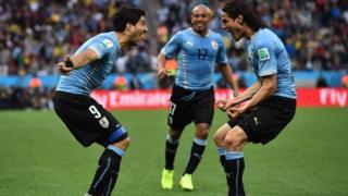 Suaez célèbre son 50ème buts sous les couleurs de la Céleste.