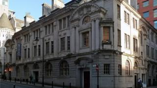 the former Stock Exchange building