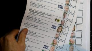 Polling card with Enda Kenny