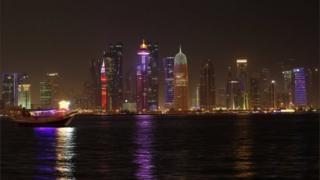 منطقة الكورنيش في الدوحة