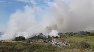 Rainham grass fire