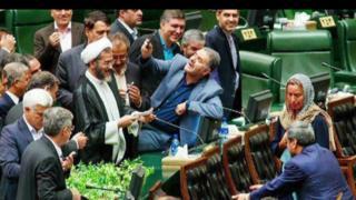 موگرینی در مجلس ایران