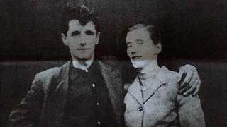 Family photo of Joseph Murphy his wife Mary, taken before his death in 1971