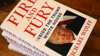 A close-up of Fire and Fury.