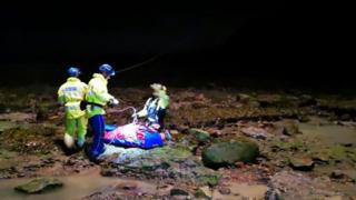 Man rescued from Staithes mudslide