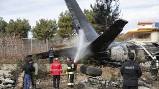 الطائرة كانت تنقل لحوما من قرغيزستان