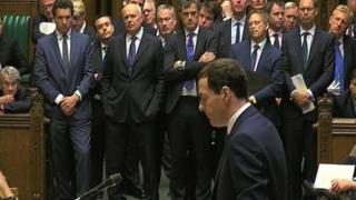 Iain Duncan Smith watches George Osborne