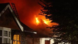 Fire in Palmeira Avenue, Hove