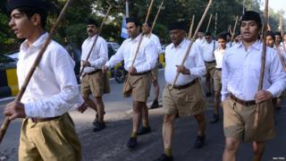 The RSS has branches in several parts of India