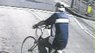 CCTV still of cyclist