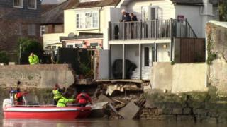 Arundel river wall collapse