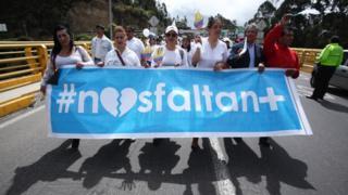 Protesta por la muerte de los miembros del equipo de prensa de El Comercio.