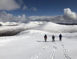 Walk in the snow at Carn Dearg
