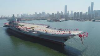 Tàu hàng không mẫu hạm mới được hạ thủy tại cảng Đại Liên