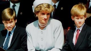 Инициаторами установки памятника стали сыновья Дианы - принцы Уильям и Гарри (фото 1995)