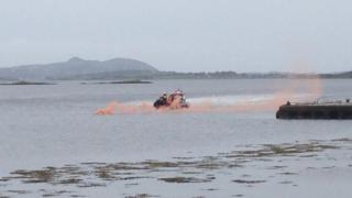 Search and rescue operation off Kerrykeel in County Donegal