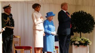The Queen welcomes Donald and Melania Trump to Windsor Castle