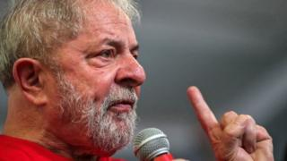 "Former Brazilian president Luiz Inacio Lula da Silva speaks as he meets supporters at the ABC Metalworkers"" Union in Sao Bernardo do Campo, Sao Paulo, Brazil, 24 January 2018."