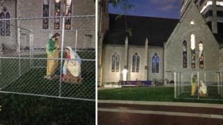Sagrada Familia de la catedral de la Iglesia de Cristo en Indiana, Estados Unidos.