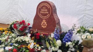 The memorial to PC Dave Phillips