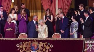 ضيوف حفل ذكرى ميلاد ملكة بريطانيا