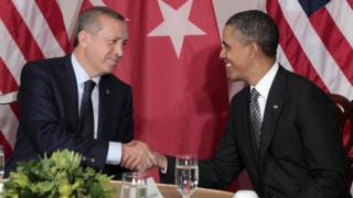 Recep Tayyip Erdogan with Barack Obama in 2011